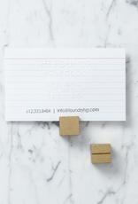 Card Holder - Brass