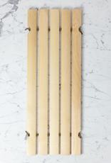 Swedish Oil Treated Birch Bath Mat / Tub Soap and Brush Rest Half Size