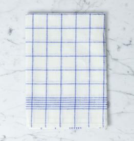 """Burstenhaus Redecker Blue Checked Linen Kitchen Towel - 20"""" x 28"""""""