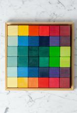 "Grimm's Toys 36 pc. Square Block Set - 10 1/4"" Square"