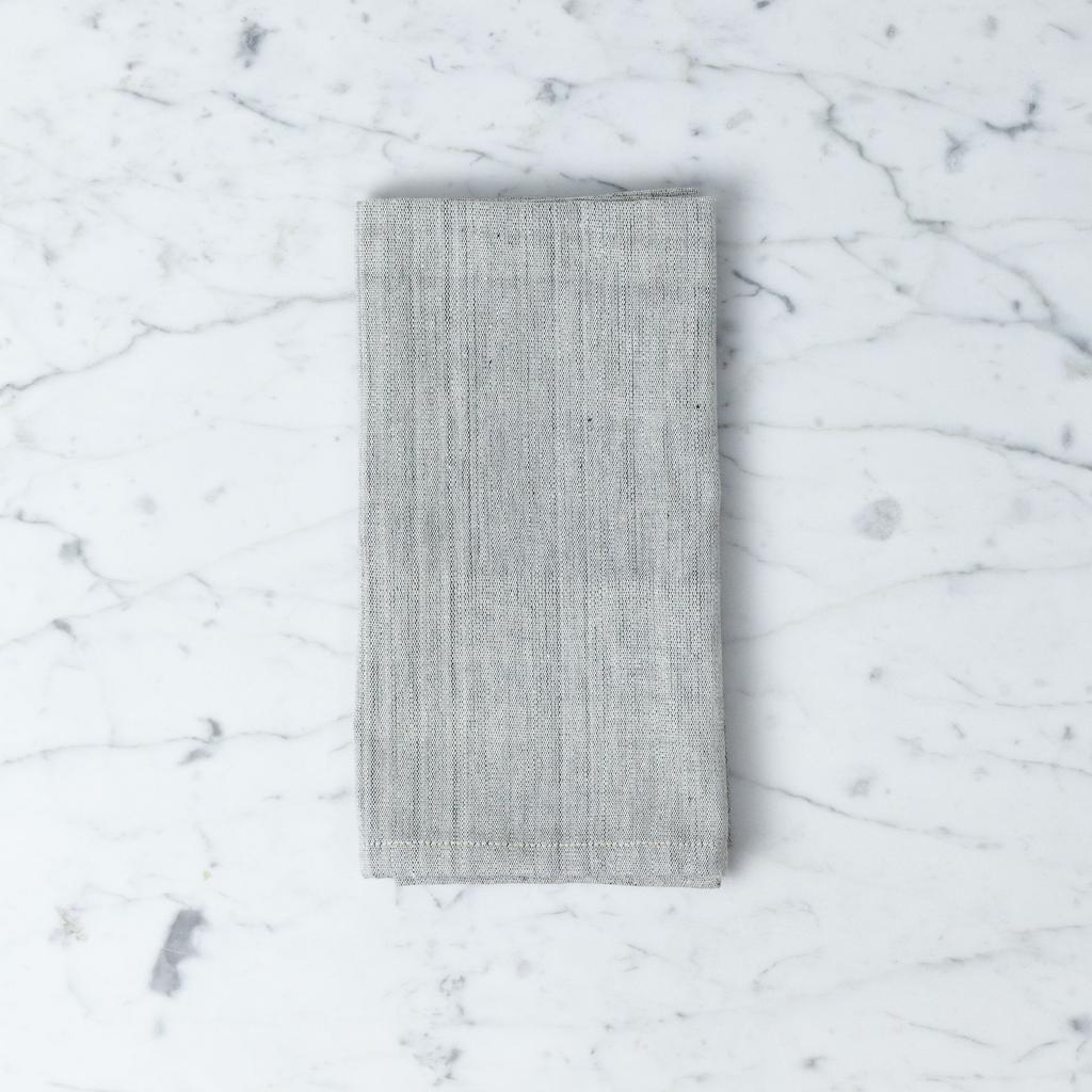 TENSIRA Handwoven Cotton Napkin - Pale Grey - 19 x 19 in