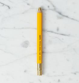 Ohto Wooden Ball Point Pen - Fat - Yellow