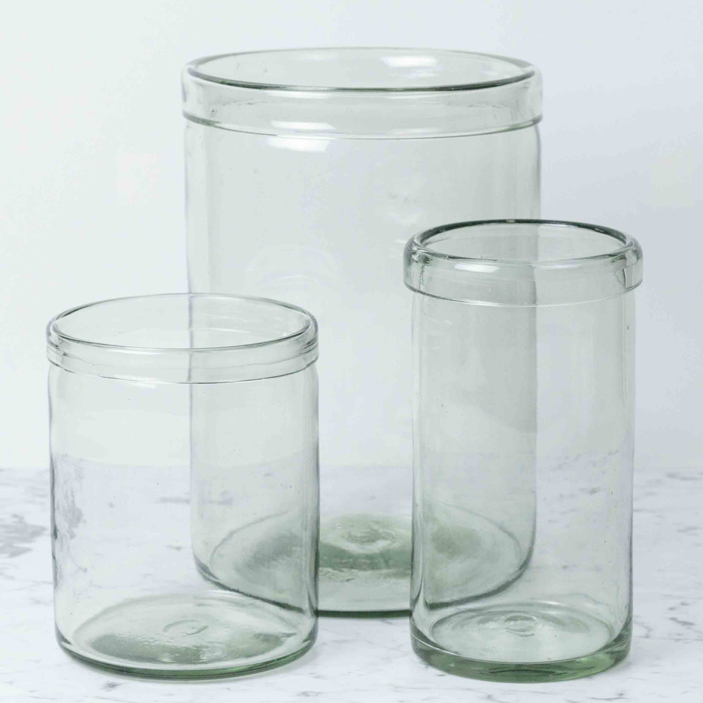 Recycled Glass Cylinder Vase - Medium