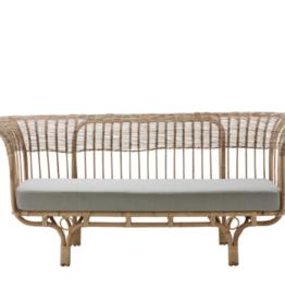 Sika-Design Belladonna Rattan Sofa - with Seagull Grey Cushion