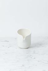 "Belgian Porcelain Milk Pitcher - White - 3 1/2"""