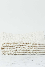Lattice Waffle Washcloth - Cotton + Linen - Ivory