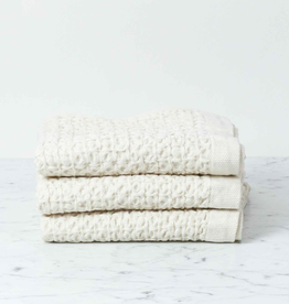 Lattice Waffle Hand Towel - Cotton + Linen - Ivory