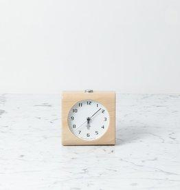 Block Alarm Clock - White