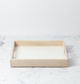 Iris Hantverk Swedish Birch Tray - White - 12 x 12 x 1.5 in
