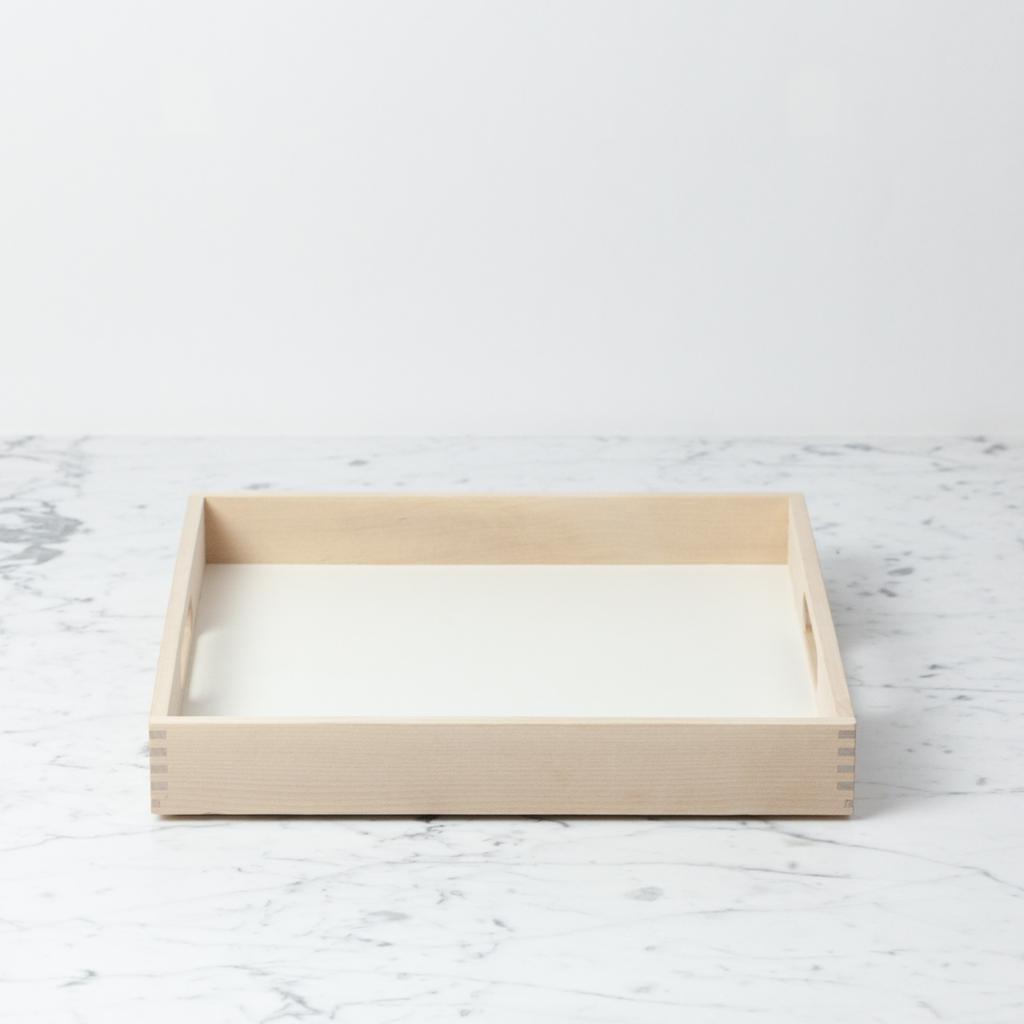 Swedish Birch Tray - White - 12 x 12 x 1.5 in