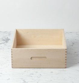 Swedish Birch High Bread Box - 12 in. L x 12 in. W x 5 in. H