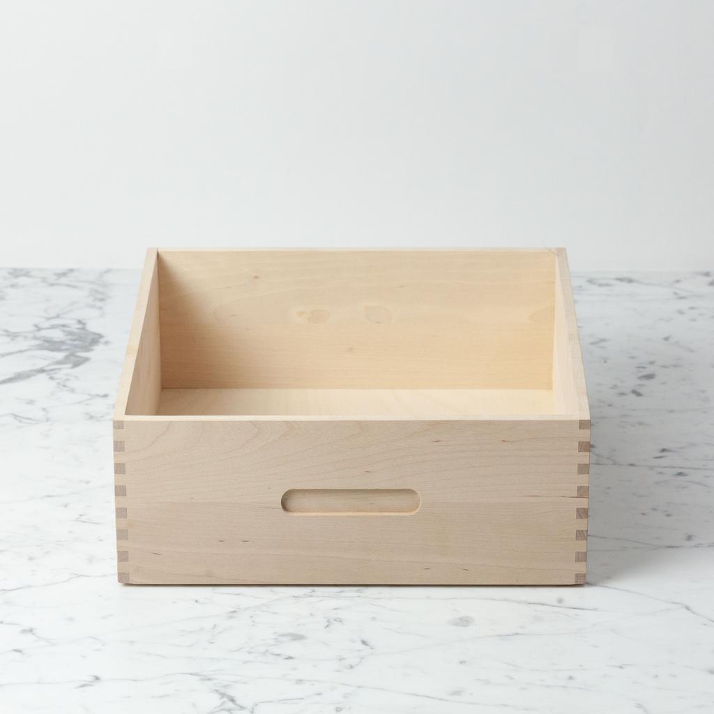 Swedish Birch High Bread Box - 12 in. L x 12 in. W x 5 in. H