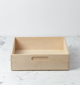 Swedish Birch Storage Box - 12 in. L x 12 in. W x 3.5 in. H
