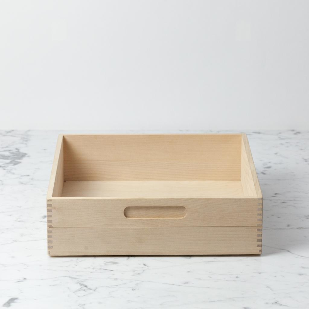 Swedish Birch Storage Box - 12 in. L x 12 in. W x 3.5 in. H