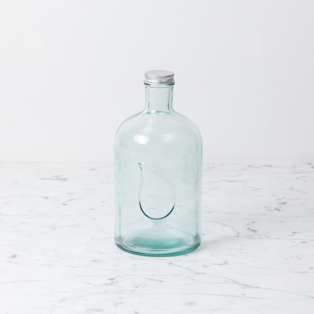 Recycled Glass Bottle with Screw Lid - Plump - 1.4 liter