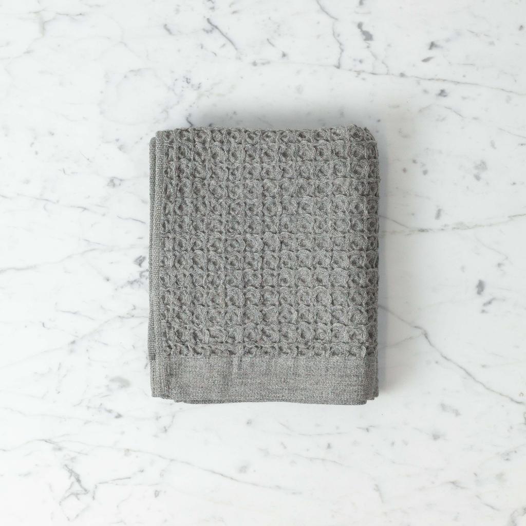 Lattice Waffle Hand Towel - Grey - 14.5 x 33.5 in