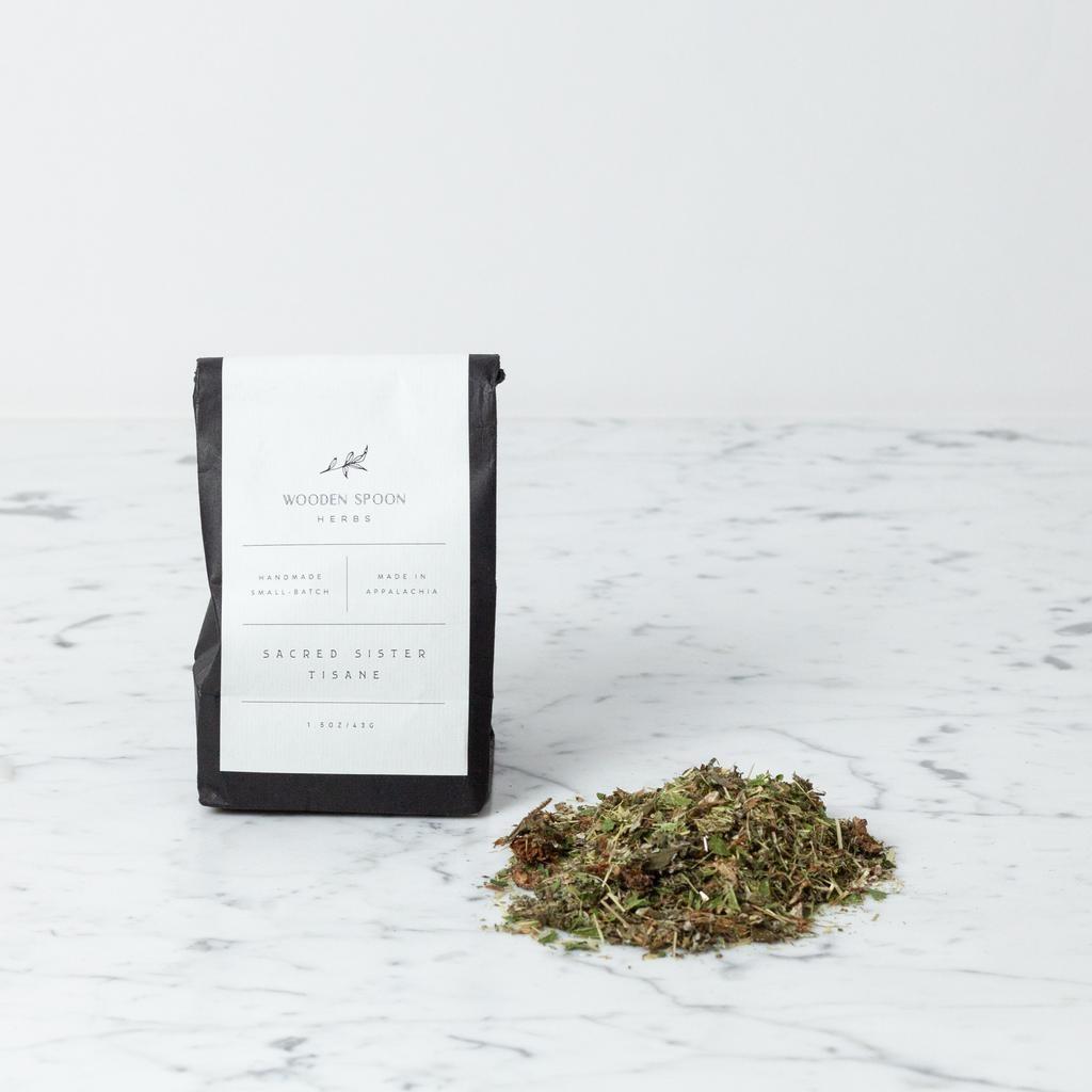 Wooden Spoon Herbs Sacred Sister Tisane Loose Leaf Tea