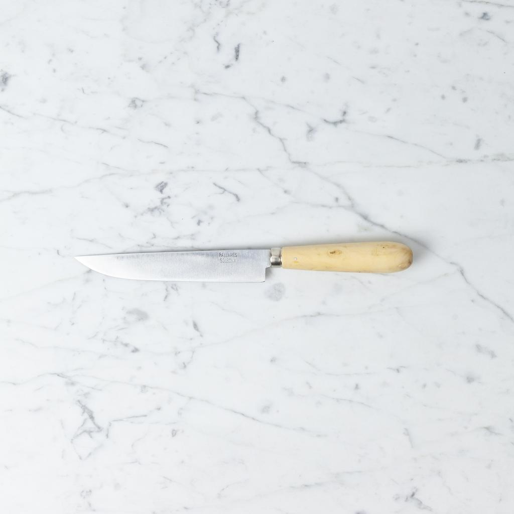 Pallares Knives Pallares Kitchen Knife - Carbon Steel - Boxwood Handle - 15 cm