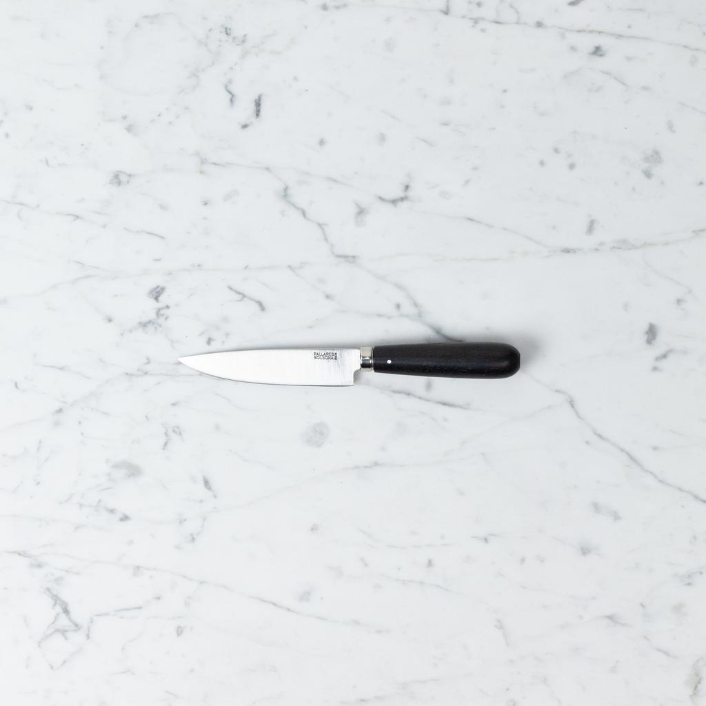 Pallares Knives Pallares Kitchen Knife - Stainless Steel - Ebony Handle - 10 cm