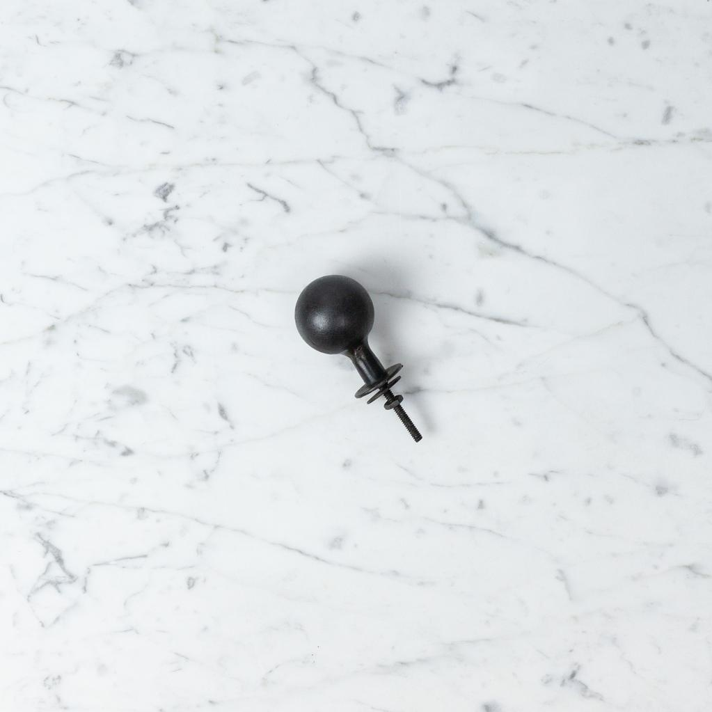 Iron Bola Drawer Pull - Large - 1.5 in.
