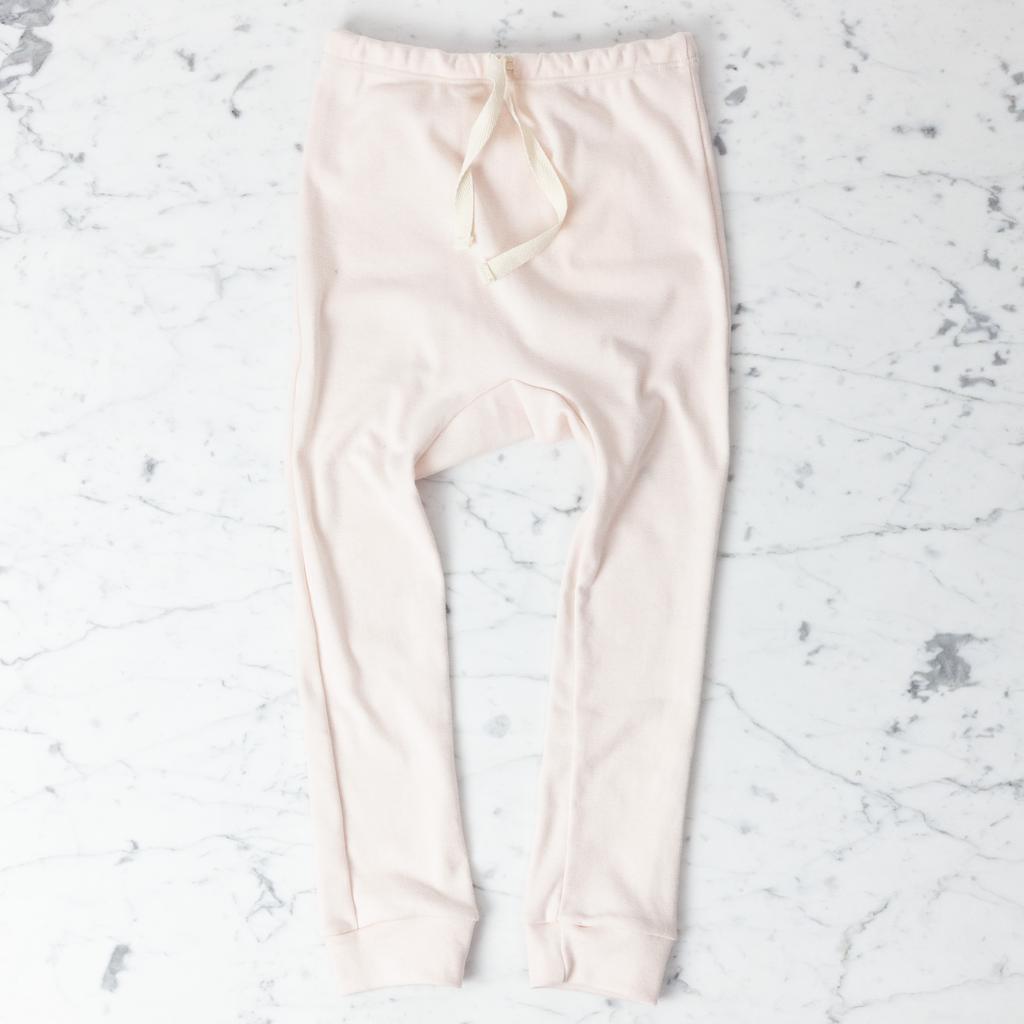 Mabo Kids Organic Cotton Leggings - Blush Pink - 4/5 Year
