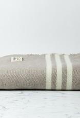 MacAusland MacAusland Wool Lap Blanket - Taupe Grey Tweed - 50 x 60 in