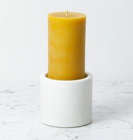 """Nordstjerne Danish White Marble Candleholder - Large - 4"""" x 3 1/2"""""""