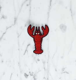 Large Pin: Lobster - Red