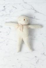 Polka Dot Club Handmade Bear Stuffed with Cotton - White Mohair