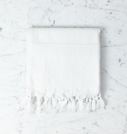 Thalassa Home Nephele Cotton Turkish Hand Towel - White - 20 x 40 in