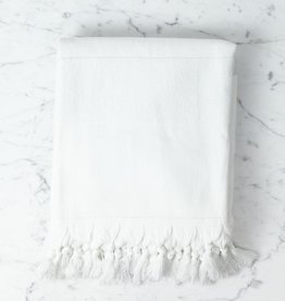 Thalassa Home Nephele Cotton Turkish Bath Towel - White - 40 x 70 in