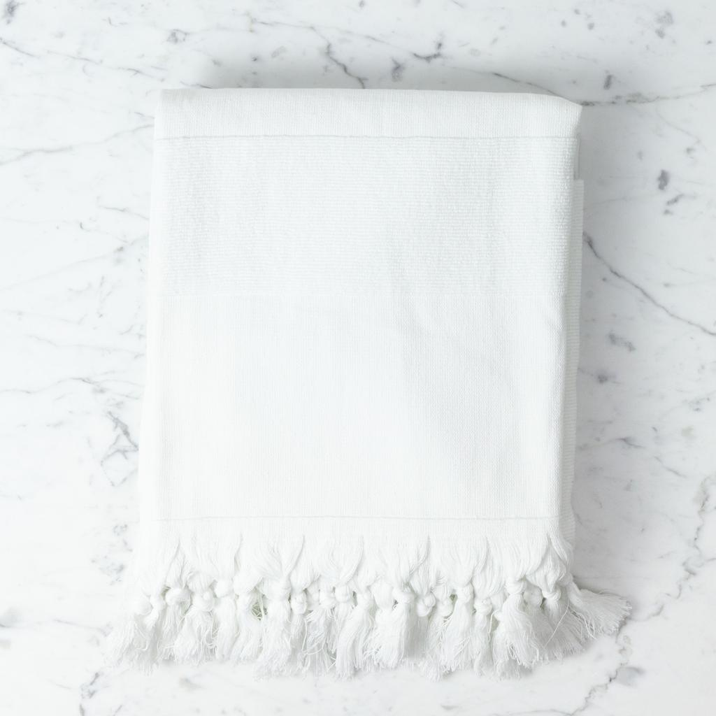 Thalassa Home Nephele Cotton Turkish Bath Towel - White - 40 x 70 in