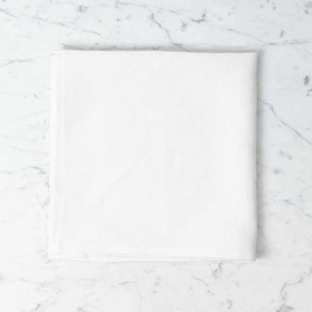 Lakeshore Linen Square Tea Towel - White - 22 x 22 in.
