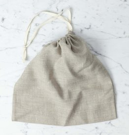 Natural Linen Bread Bag - Square
