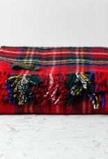 "Traditional Highland Tartan Wool Throw - Royal Stewart - 60"" x 72"""