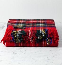 """Traditional Highland Tartan Wool Throw - Royal Stewart - 60"""" x 72"""""""
