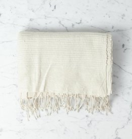 Creative Women Riviera Ribbed Bath Towel Natural 38x 62