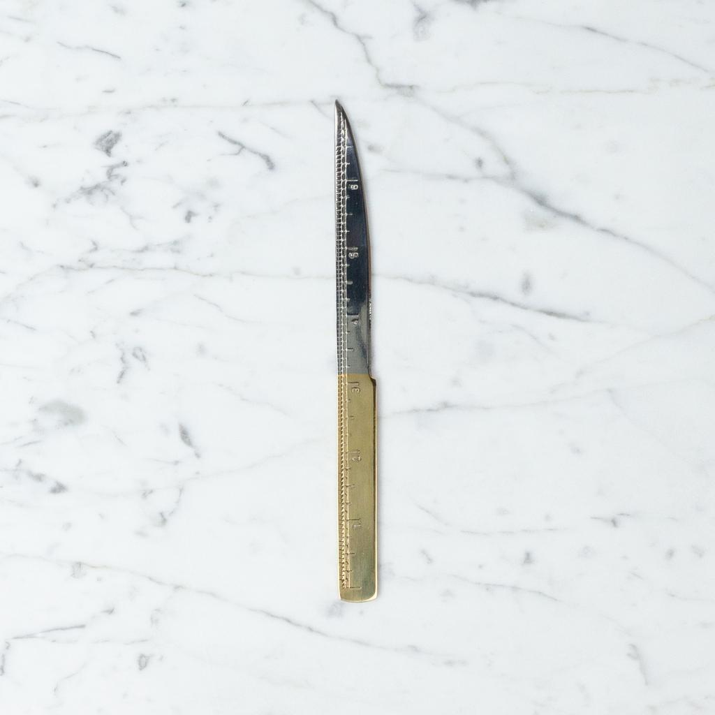 Angela Liguori Handmade Italian Letter Opener with 24 Karat Gold Handle - 7.5 in