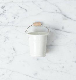 "Teeny Tiny White Bucket for Doll's House or Very Tidy Mice - 2"""
