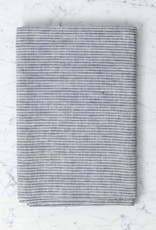 Lithuanian Linen Table Cloth - Small - Grey + White Stripe
