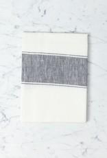 Belgian Linen Ajaccio Tea Towel - Black Grey