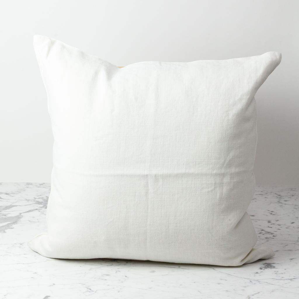 Belgian Linen Napoli Down Pillow - Oyster - 25 x 25 in