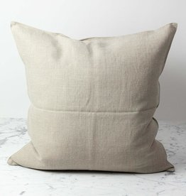 Belgian Linen Napoli Down Pillow - Flax - 25 x 25 in