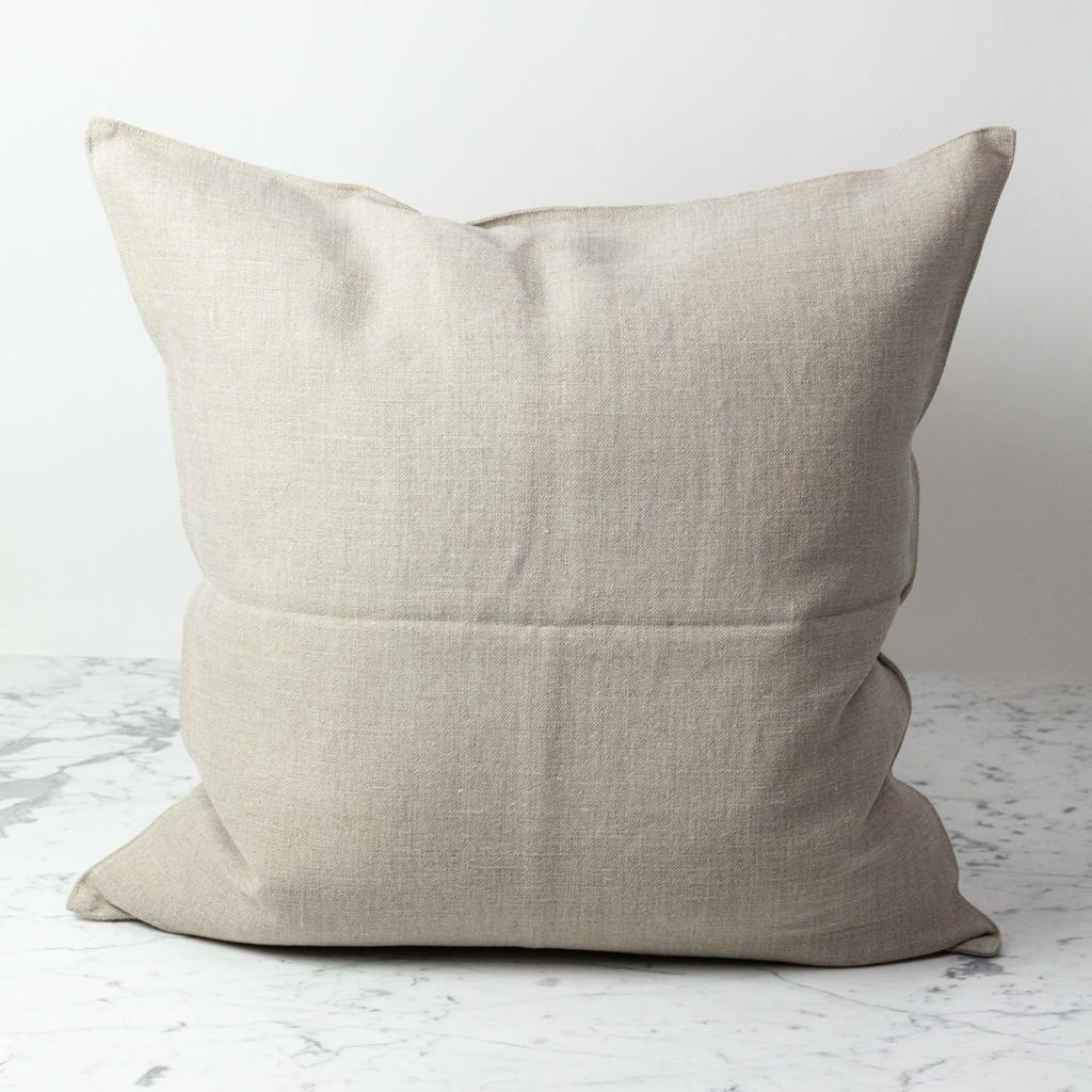Belgian Linen Napoli Down Pillow - Flax - 25 x 25 in