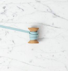 Angela Liguori Italian Cotton Ribbon - Pool -1/4 in - Sold Per Yard