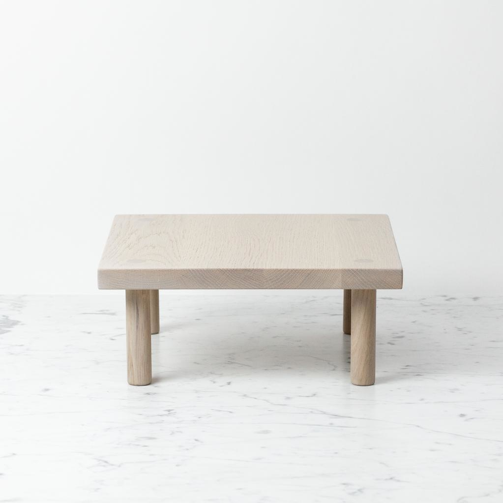 Sun at Six Yucca Stand Low Square - Solid White Oak
