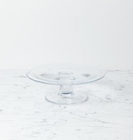 "Henry Dean Clothilde Glass Cake Stand - Small - 9 1/4"" x 3"""