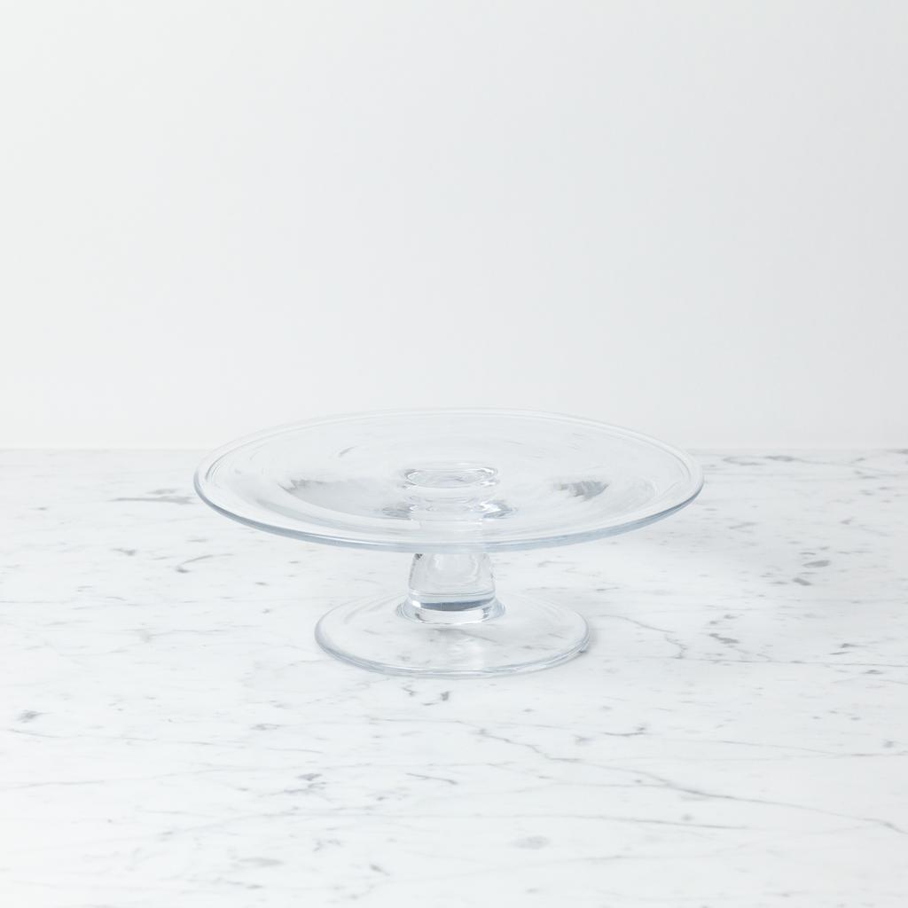 """Henry Dean Clothilde Glass Cake Stand - Small - 9 1/4"""" x 3"""""""