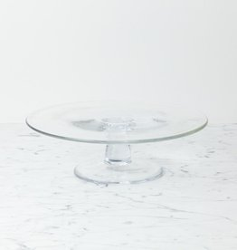 "Henry Dean Clothilde Glass Cake Stand - Large - 11 1/2"" x 3 1/2"""