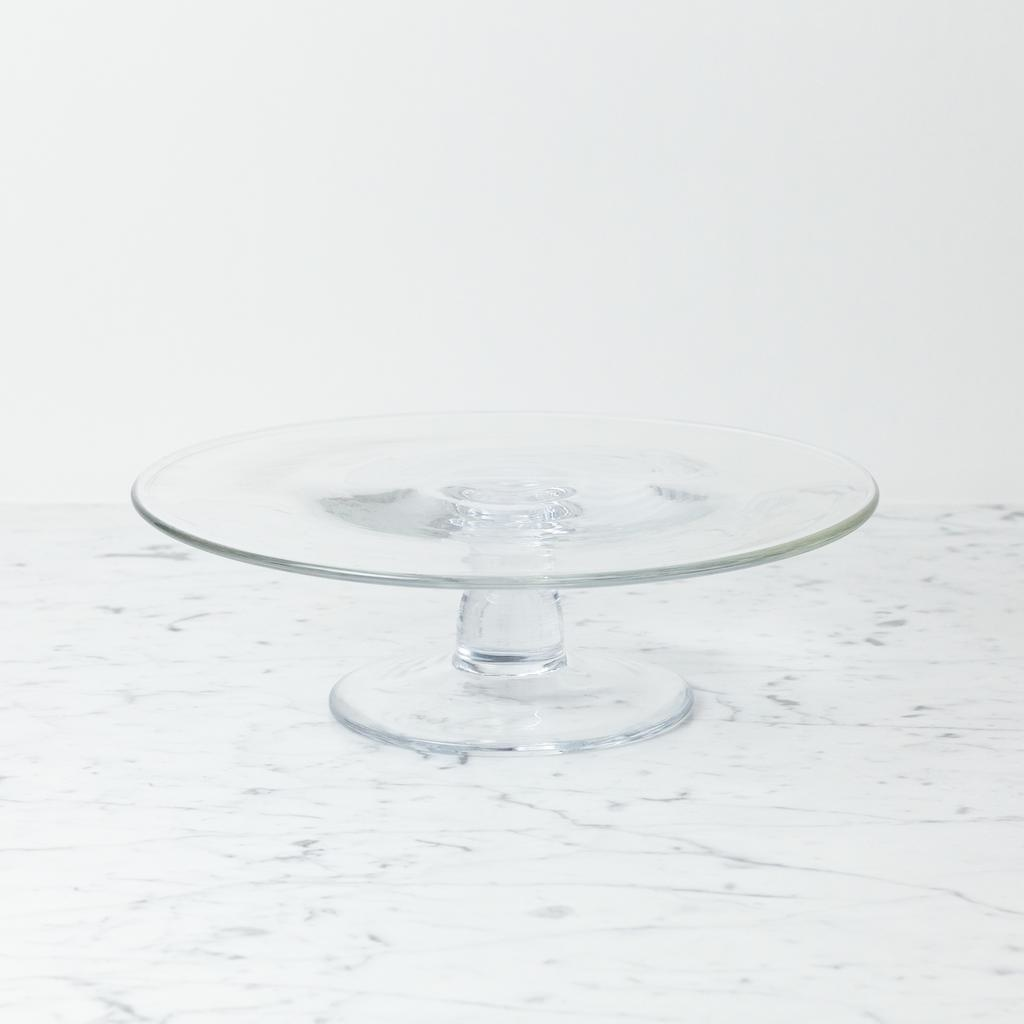 """Henry Dean Clothilde Glass Cake Stand - Large - 11 1/2"""" x 3 1/2"""""""